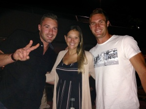 Me with Ben and Andrew - Aussie cousins