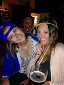 Stina's boyfriend in the back.  Yes I wore that hat ALL NIGHT