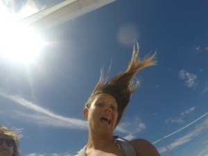 Got pretty windy...