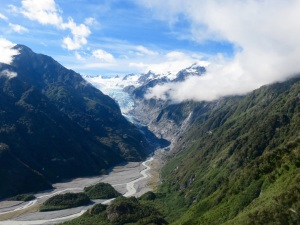 View of Franz Joseph glacier from the helicopter