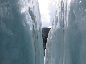 Crevice in the ice we hiked through