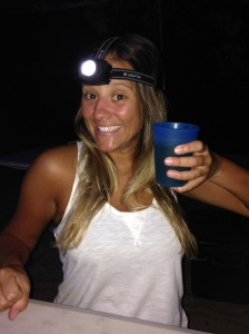 Why drink when you can drink with a headlamp?