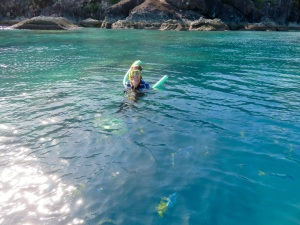 Stina snorkeling