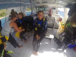 Getting ready to dive!