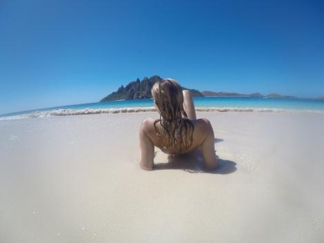 My obligatory beach pose.]