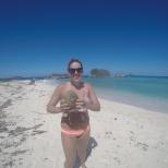 Steph found a coconut