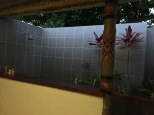 The famous outdoor shower