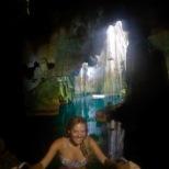 cave entrance selfie