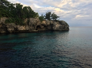 View of the cliffs from our cave!