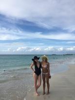 Stina and Nikki on seven mile beach