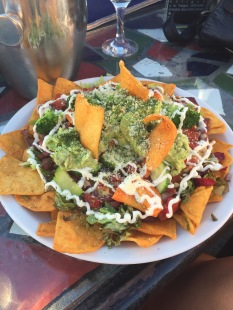 Did I mention the giant nachos we had with drinks?