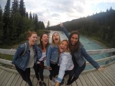 Lake Louise pre-dinner selfies