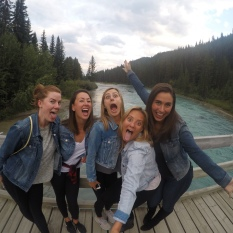 Lake Louise pre-dinner selfies