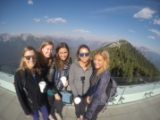 Troop 638 at the top of Sulphur Mountain