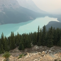 Peyto Lake at 6:30 am