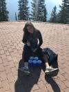 Mar Mar poppin bottles on Sulphur Mountain