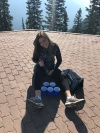 Mar Mar poppin bottles on Sulphur Mountain
