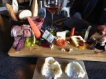 Our wine and charcuterie board at the Grapes wine bar