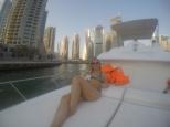 Jorgie on the boat
