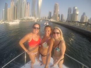 Girls on a boat