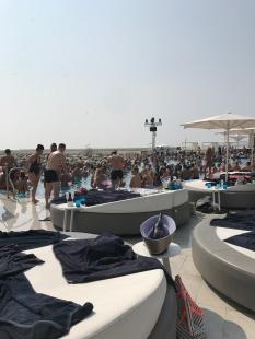 The beach club pool