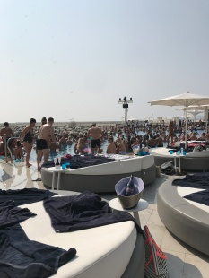 The beach club pool