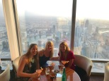 Drinking in the highest bar in the world