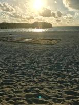 Sunset yoga set up