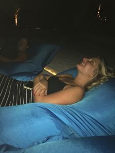 The girls at movie night