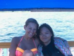 Joy and I on the boat!