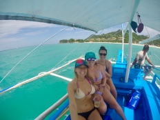 The gals on the boat .