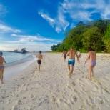 Private island beach walk