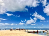 The sand bar of Virgin Island