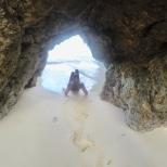 A sea cave