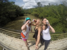 Beers on a bridge