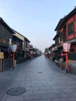 Deserted streets of Gion at 6 am
