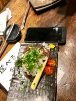 Neil's meal - with phone for scaling