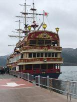 Pirate ship on Lake Ashi