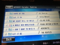 The top 6 karaoke songs? In 1998?