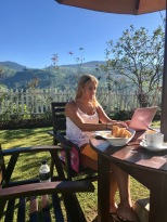 Breakfast blogging with a view!