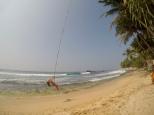 Carly beach swinging at Dalawella beach
