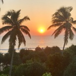 Bentota beach sunset