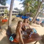 Post-swing Beers at Dalawella beach