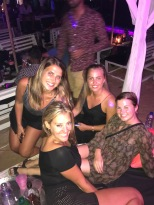 The girls at the cabana
