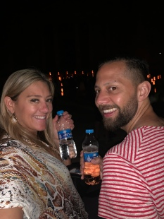 Smuggled in our wine to Petra by Night