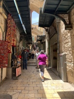 Via Dolorosa - the path that Jesus walked on the way to crucifixion