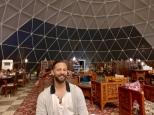 The stargazing dinner tent at Memories Aicha Luxury Camp