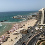 Tel Aviv beach views from our hotel