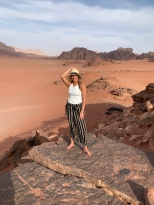 Wadi Rum views from the top of a sand dune
